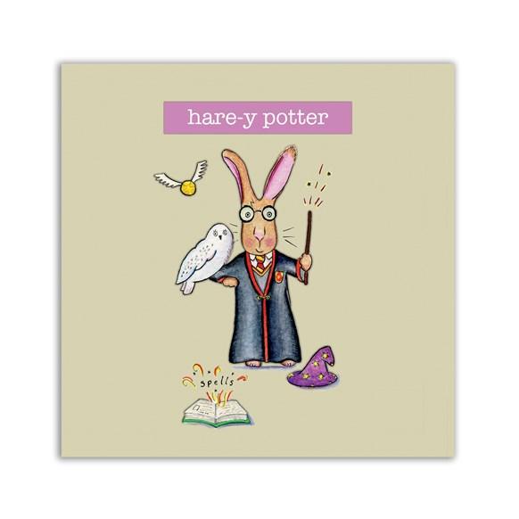 Hare-y Potter Embellishment Card