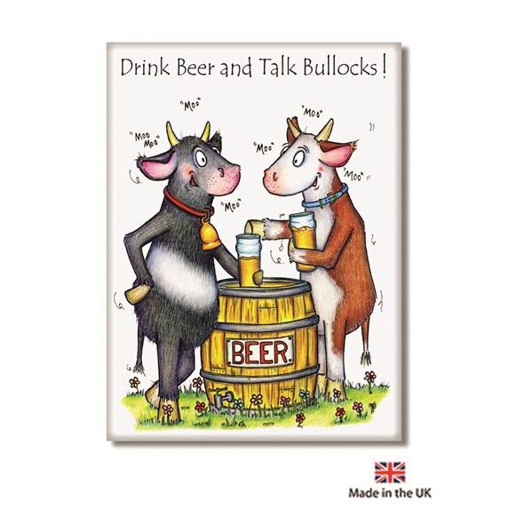 Talk Bullocks Fridge Magnet