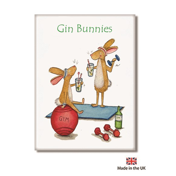 Gin Bunnies Fridge Magnet