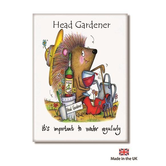 Head Gardener Fridge Magnet