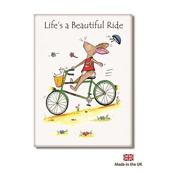 Life's a Beautiful Ride Fridge Magnet