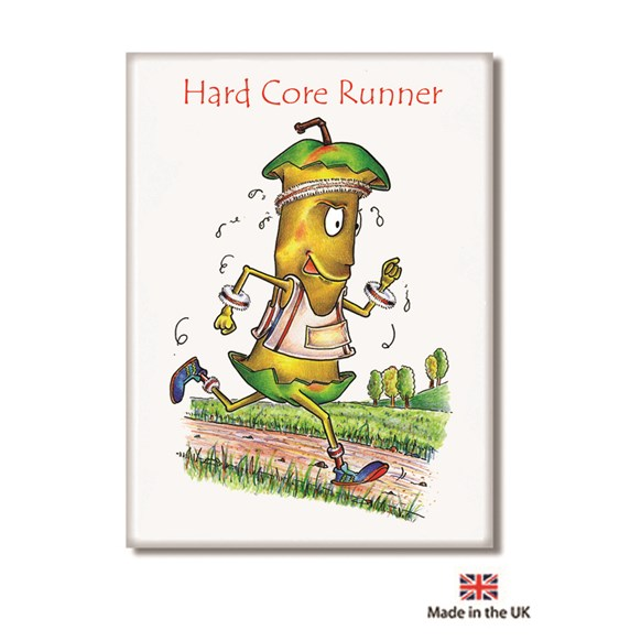 Hard Core Runner Fridge Magnet