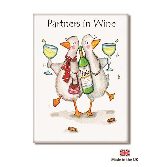 Partners in Wine Fridge Magnet