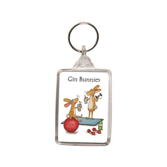 Gin Bunnies Key Ring