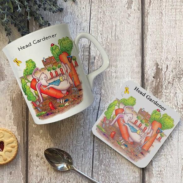 Head Gardener Mug and Coaster Set