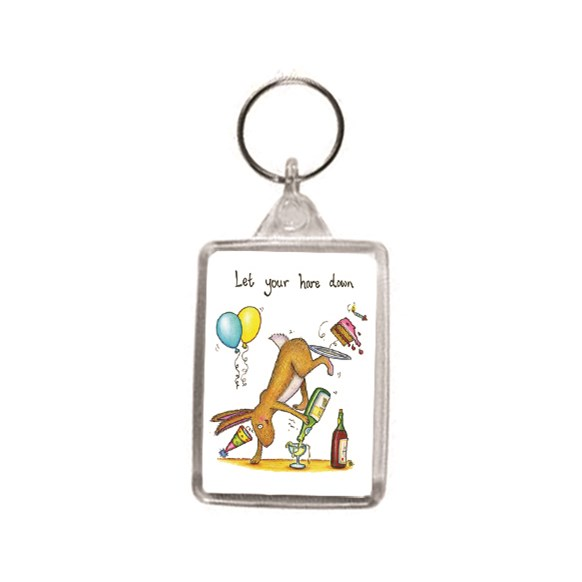 Hare Down Key Ring