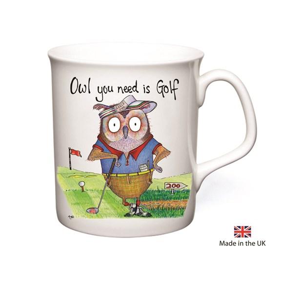 Owl Golf Mug