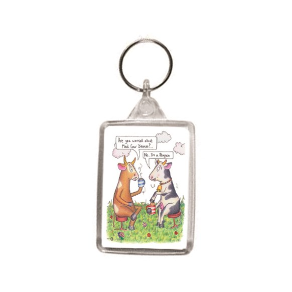 Mad Cow Key Ring