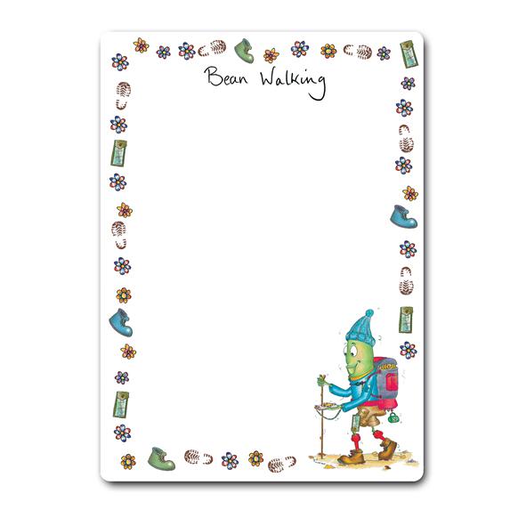 Bean Walking Dry-Wipe Board