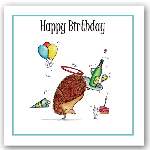 Birthday Hedgehog Occasions Card