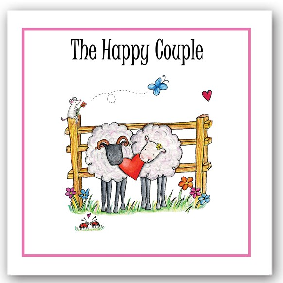 Happy Couple Sheep Occasions Card