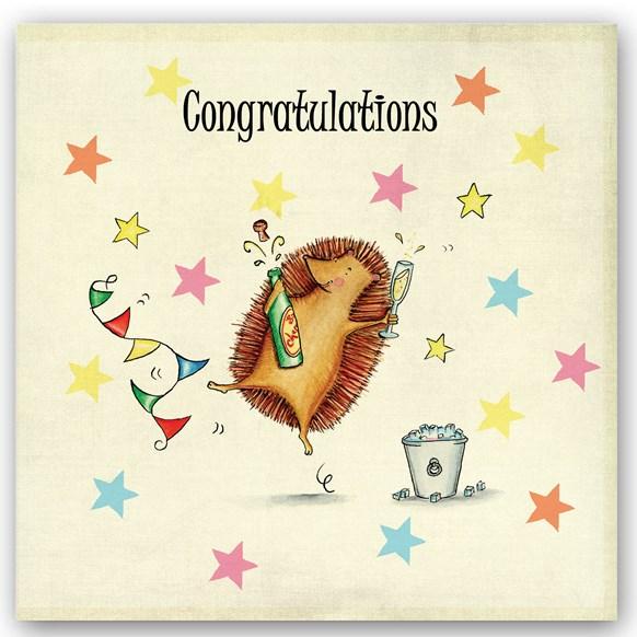 Congrats Hedgehog Occasions Card