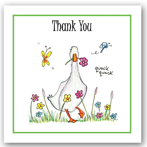 Thank You Duck Occasions Card