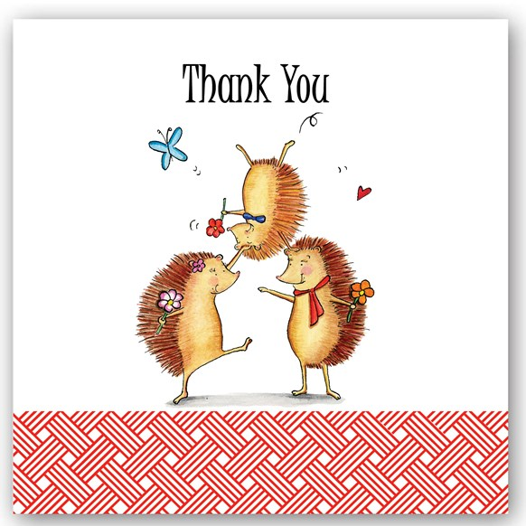 Thank You HedgeHogs Occasions Card
