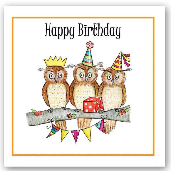 Birthday Owl Occasions Card