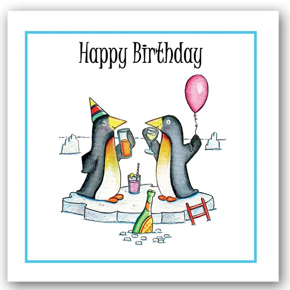 Birthday Penguins Occasions Card