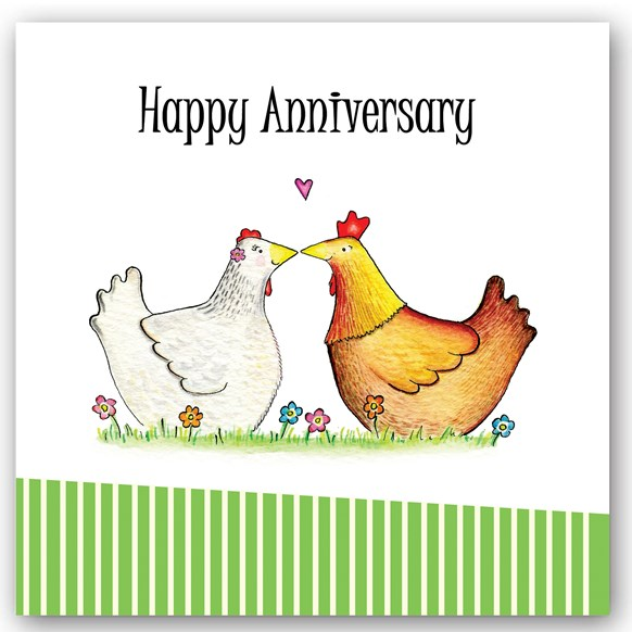 Anniversary Chickens Occasions Card