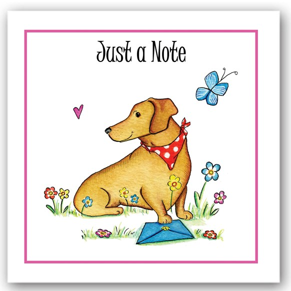 Just a Note Dog Occasions Card