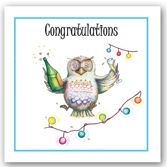 Congratulations Owl Occasions Card