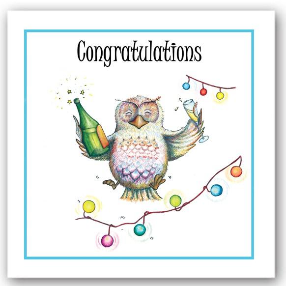 Congratulations Owl Occasions Card