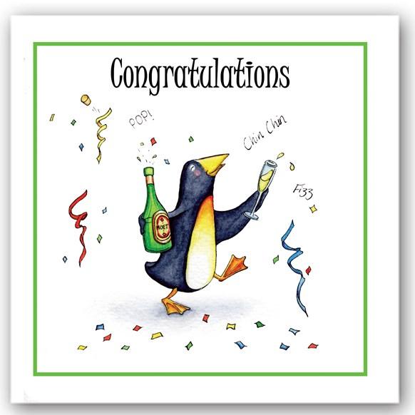 Congratulations Penguin Occasions Card