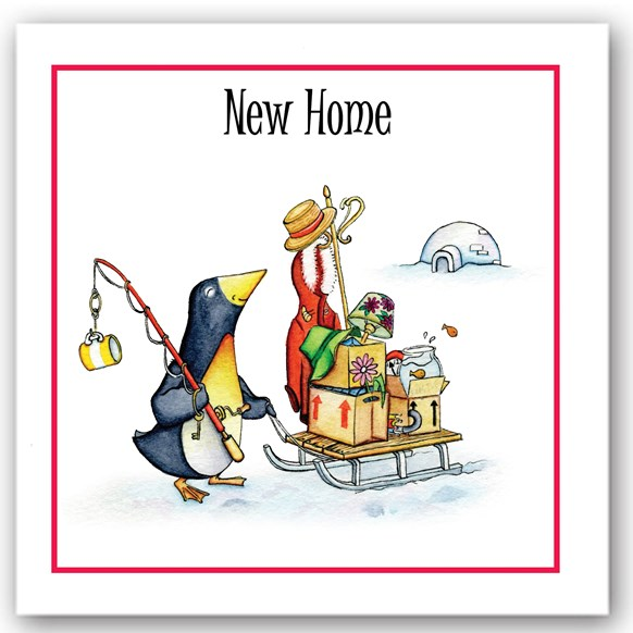 New Home Penguin Occasions Card