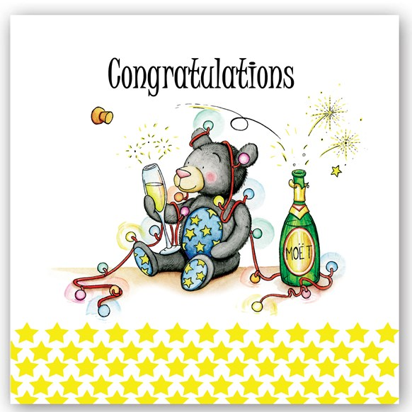 Congratulations Bear Occasions Card
