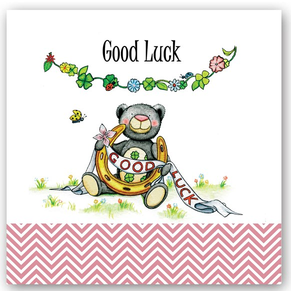 Good Luck Bear Occasions Card