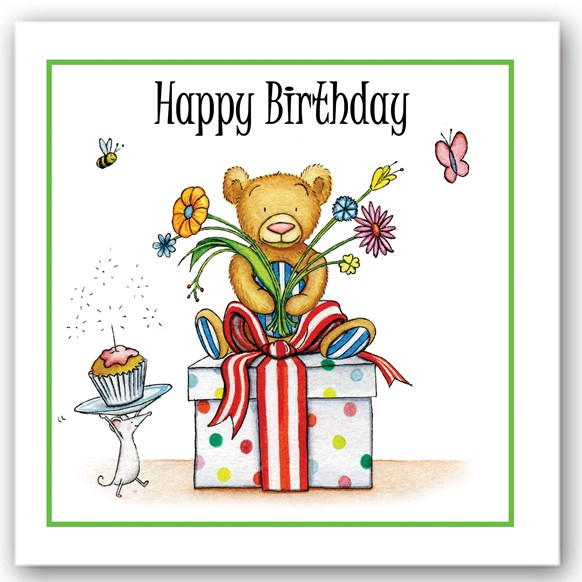 Birthday Bear 2 Occasions Card