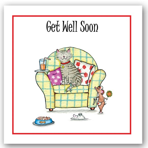 Get Well Soon Cat Occasions Card