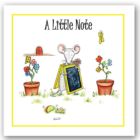 A Little Note Mouse Occasions Card