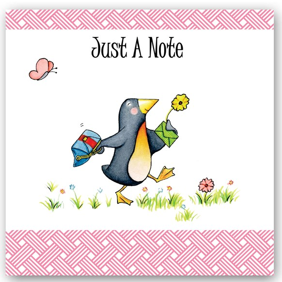 Just a Note Penguin Occasions Card
