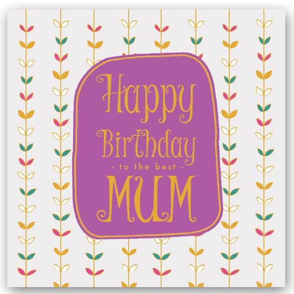 Happy Birthday Mum Foiling Card