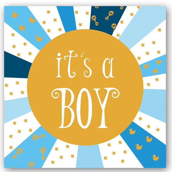It's a Boy Foiling Card
