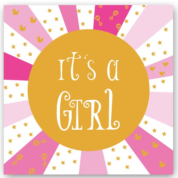 It's a Girl Foiling Card