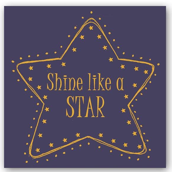 Shine Like a Star Foiling Card
