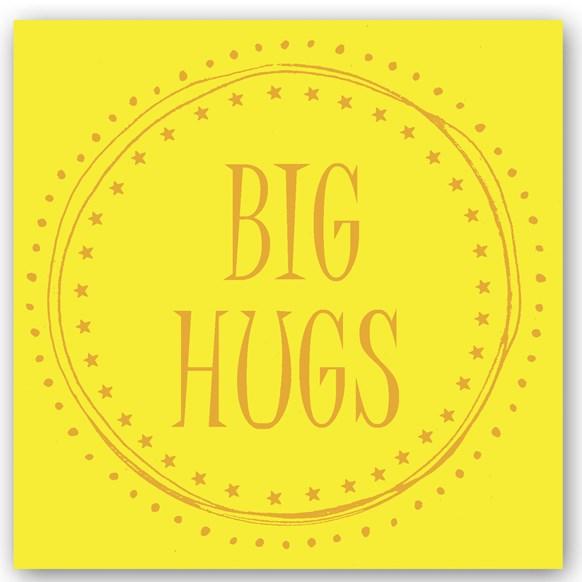 Big Hugs Foiling Card