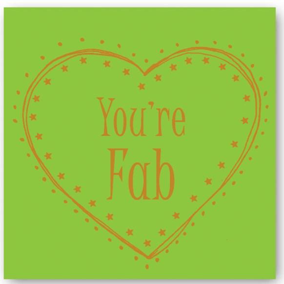 You're Fab Foiling Card