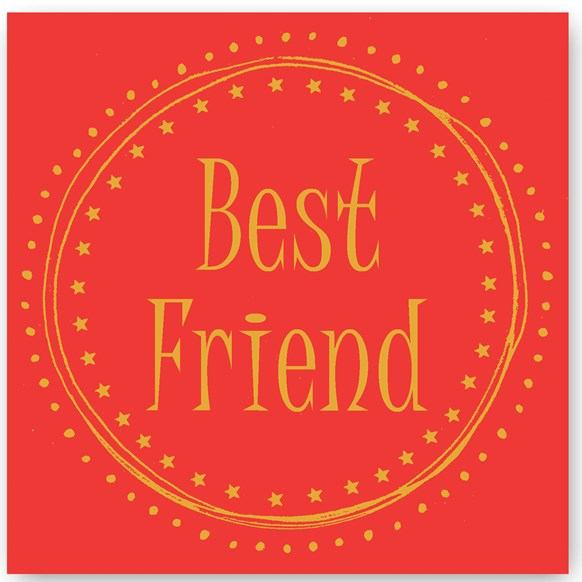 Best Friend Foiling Card