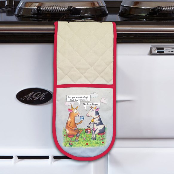Mad Cow Oven Gloves
