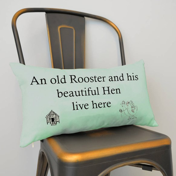 Old Rooster Cushion Small