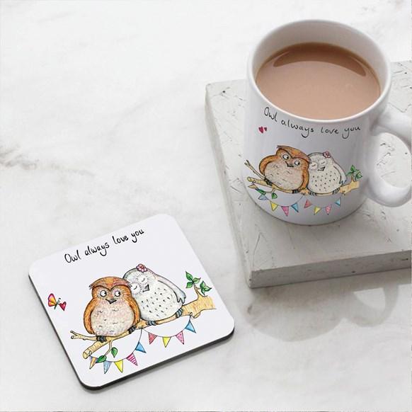 Owl Always Love You Mug and Coaster Set