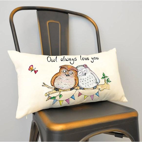 Owl Love Cushion Small