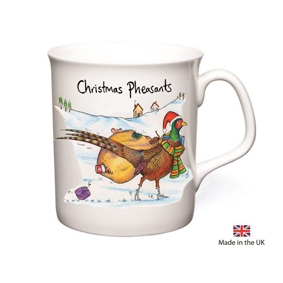 Pheasants Christmas Mug
