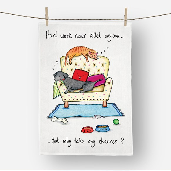 Hard Work Tea Towel