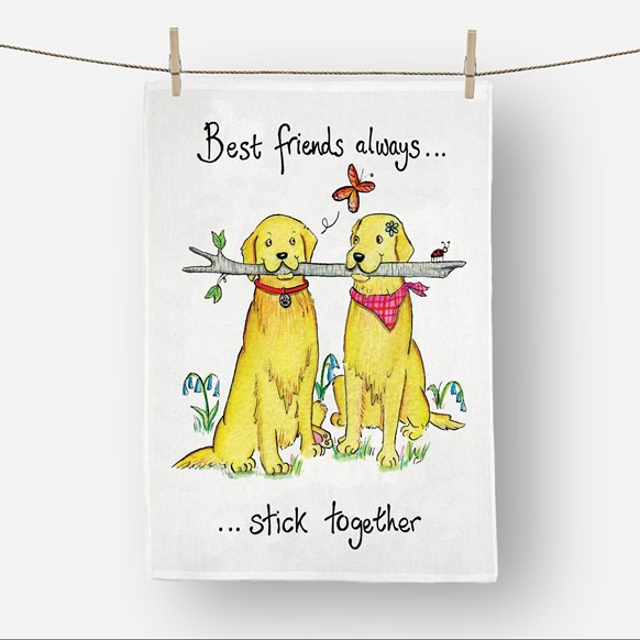 Best Friends Tea Towel
