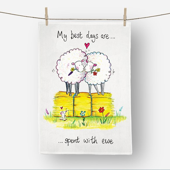 Spent with Ewe Tea Towel