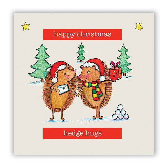 Hedge Hugs Christmas Card