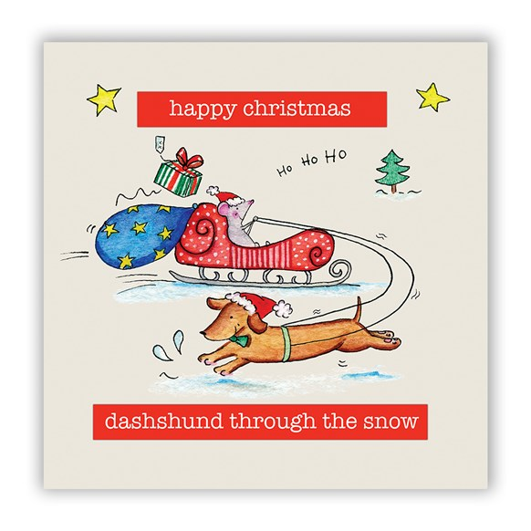 Dashshund Christmas Card