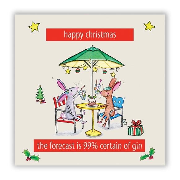99% Gin Christmas Greeting Card